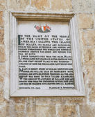 Proclamation by Pres. Roosevelt, Palace Square, Valletta, Malta — Stock Photo
