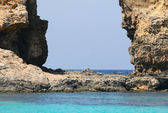 Island of Comino was once popular with marauders and pirates due — Stock Photo