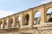 Arches Upper Barrakka Gardens in Valletta, Malta — Stock Photo