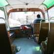 Inside of typical bus of Malta — Stok fotoğraf