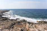 View of the rocky coastline near St. Julian's — Stock Photo