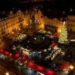 Christmas market in Old Town Square in Prague — Стоковая фотография