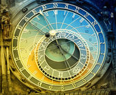 Orloj astronomical clock in Prague in Czech Republic — Stock Photo
