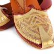 Pair of traditional Indian shoes — Stock Photo