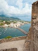 View of Ischia Ponte from Aragonese Castle — Stock Photo