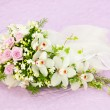 Wedding Pink Roses And White Orchid Bouquet — Stock Photo #36791247