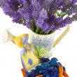 Watering cwith lavender sachet — Stock Photo #37016921