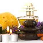 Spa accessories and lavender — Stock Photo