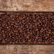 Stock Photo: Rectangular shaped of coffee beans