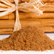 Stock Photo: Sticks and ground ceylon cinnamon