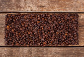 Rectangular shaped of coffee beans — Stock Photo