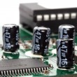 Stock Photo: Macro of capacitors