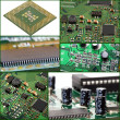 Stock Photo: Collage of micro circuit board