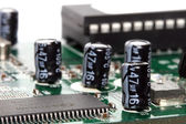 Macro of capacitors — Stock Photo