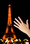 Marriage proposal in Paris — Stock Photo