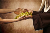 Jesus gives bread and grapes — Foto de Stock