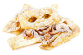 "Typical dessert Italian carnival, ""chiacchiere"" fries. — Foto Stock"
