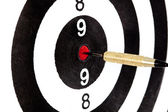 Bulls eye target with dart — Stock Photo