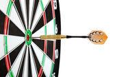 Bulls eye target with dart — Stock Photo