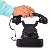 Old retro bakelite telephone — Stock Photo