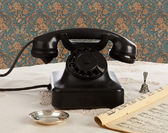 Old retro bakelite telephone — Stock Photo