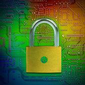 защищать и безопасный ваши данные — Стоковое фото