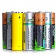 Stock Photo: Lot of used batteries