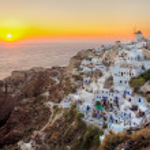 Oia town , Santorini island, Greece — Stock Photo
