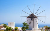 Traditional Santorini windmill — Stock Photo