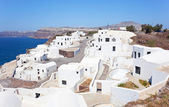 View of generic village at Santorini island — Stockfoto