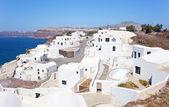 View of generic village at Santorini island — Stockfoto