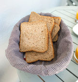 Sliced wholemeal rye bread — Stock Photo