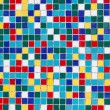 Colored mosaic of old tiles — Stock Photo #39480783