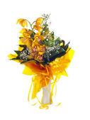 Bouquet of fresh bright yellow orchid — Stock Photo