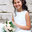 First Communion beautiful girl — Stock Photo