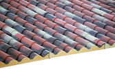 Prefabricated roof polyurethane foam — Stock Photo