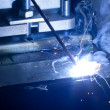 Foto Stock: Iron Welding, Bright Light