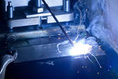 Iron Welding, Bright Light — Stock Photo
