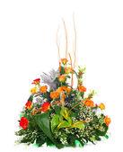 Beautiful bouquet of orange roses. — Stock Photo