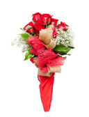 Flower bouquet of red roses — Stock Photo