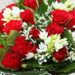 Flower bouquet of red roses — Stock Photo #40563681