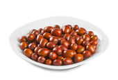Plate of jujube — Stock Photo