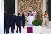 CASSINO, ITALY - MAY 24, 2009: Pope Benedict XVI's pastoral visi — Photo