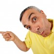 Surprised man with WOW expression. — Stock Photo
