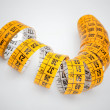 Yellow measuring tape — Stock Photo #42477249