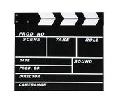 Blank movie production clapper board — Stock Photo