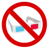Prohibition of use of 3d eyeglasses — Stock Photo