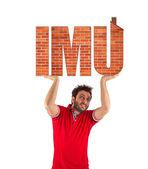IMU, Italian tax. Property Tax. — Stock Photo