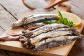 Marinated anchovies — Stock Photo