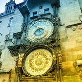 Orloj astronomical clock in Prague  — Stock Photo